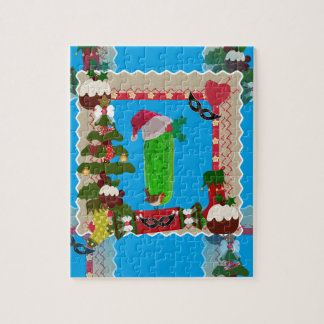 ugly christmas pickle jigsaw puzzle