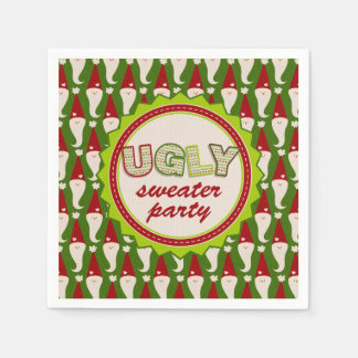 Ugly Christmas Santa Sweater Cocktail Napkins Paper Serviettes