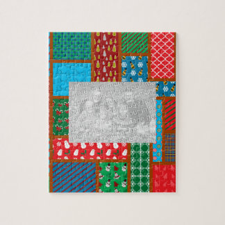 Ugly christmas square pattern jigsaw puzzle