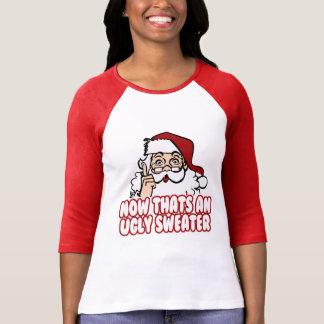Ugly Christmas Swear Santa Claus T Shirt