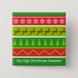 Ugly Christmas Sweater 15 Cm Square Badge