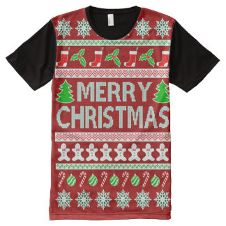 UGLY CHRISTMAS SWEATER All-Over PRINT T-Shirt
