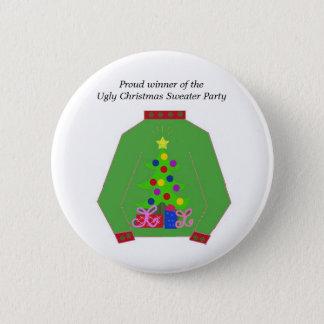 Ugly Christmas Sweater Award 6 Cm Round Badge