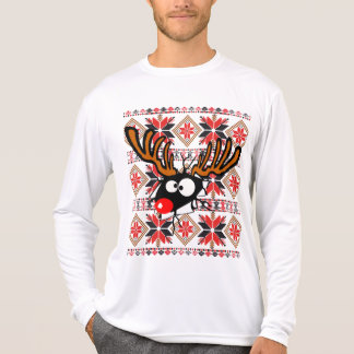 Ugly Christmas Sweater busting through Tees