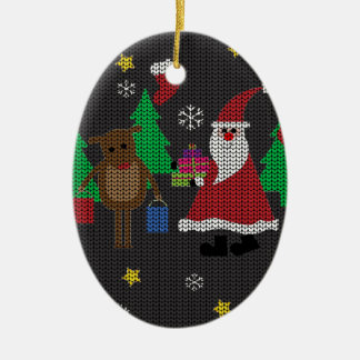Ugly Christmas Sweater Ceramic Ornament