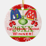 Ugly Christmas Sweater Contest Winner Ornament 4