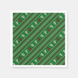 Ugly Christmas Sweater Disposable Serviettes