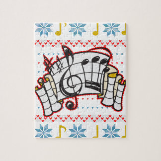 Ugly Christmas Sweater Music Notes Jigsaw Puzzles