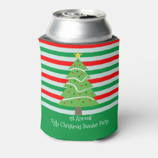 Ugly Christmas Sweater Party Gift Can Cooler