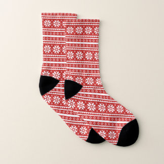 Ugly Christmas Sweater pattern Nordic socks gift 1