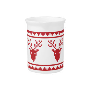 ugly christmas sweater pitcher