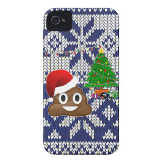 ugly Christmas sweater poop emoji Case-Mate iPhone 4 Case