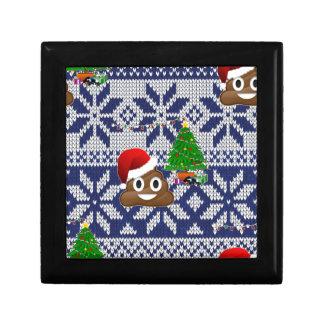 ugly Christmas sweater poop emoji Gift Box