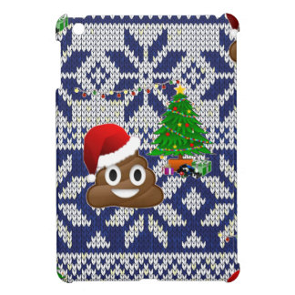 ugly Christmas sweater poop emoji iPad Mini Cover