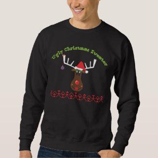 Ugly Christmas Sweater Reindeer Pull Over Sweatshirts