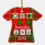 Ugly Christmas Sweater Shirt Ornament