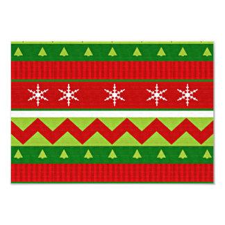 Ugly Christmas Sweater Voting Ballot Card 9 Cm X 13 Cm Invitation Card