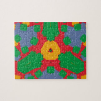 Ugly colorful pattern jigsaw puzzles