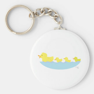 ugly duckling in a pond key ring