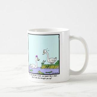 Ugly Duckling: Swan cartoon Coffee Mug