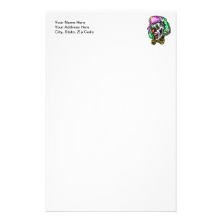 Ugly Evil Clown Personalized Stationery