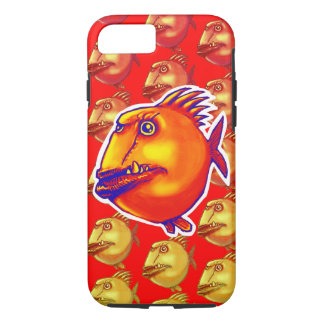 ugly fish cartoon style illustration iPhone 7 case