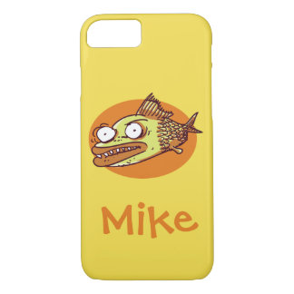 ugly fish funny cartoon iPhone 8/7 case
