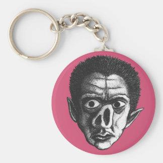 Ugly Goblin Basic Round Button Keychain