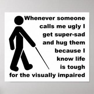 Ugly Hug Funny Poster Sign