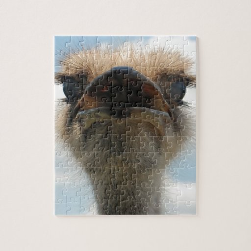 Ugly Man Ostrich Jigsaw Puzzles