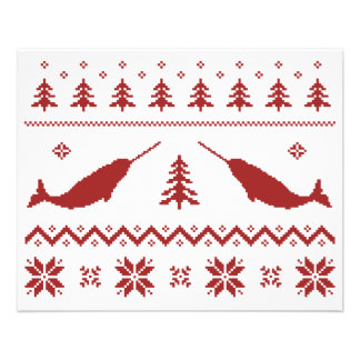 Ugly Narwhal Christmas Sweater Flyer Design