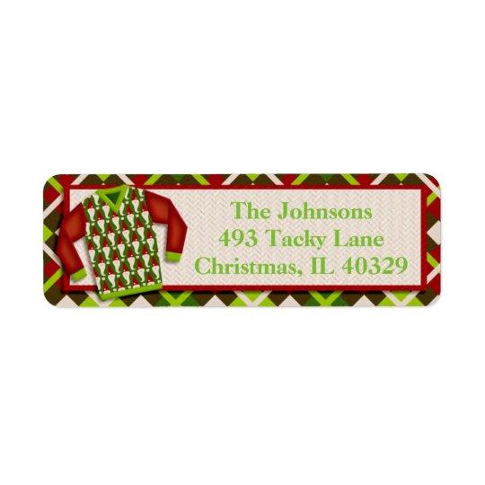 Ugly Santa Christmas Sweater Return Address Label