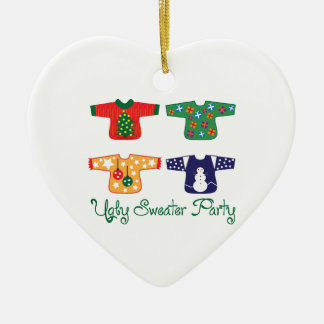 Ugly Sweater Ceramic Ornament