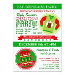 Ugly Sweater Christmas Party 13 Cm X 18 Cm Invitation Card