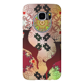Ugly Sweater Christmas Reindeer Design Samsung Galaxy S6 Cases
