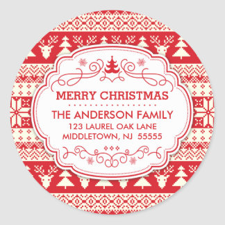 Ugly Sweater Christmas Return Address Label Seals