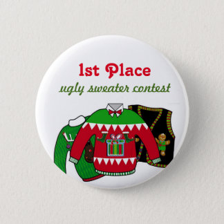 Ugly Sweater Contest Winner 6 Cm Round Badge