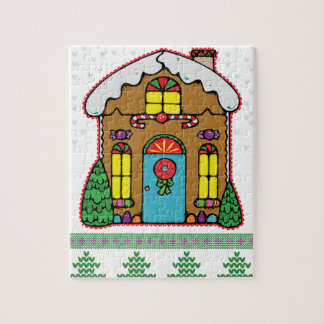 Ugly Sweater Gingerbread House Men Puzzle