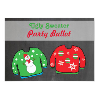 Ugly Sweater Party Contest Voting Ballot Card