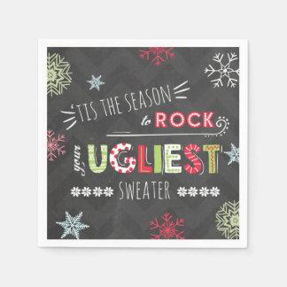 Ugly Sweater Party Napkin The season Chalkboard Disposable Napkin