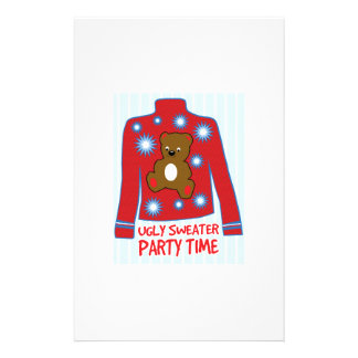 Ugly Sweater Party Stationery