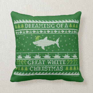 Ugly Sweater Style Christmas Shark Pillow