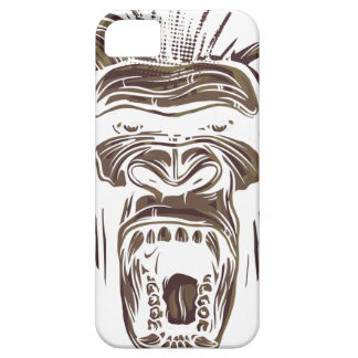 ugly vintage monkey iPhone 5 case