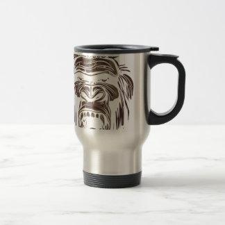 ugly vintage monkey travel mug