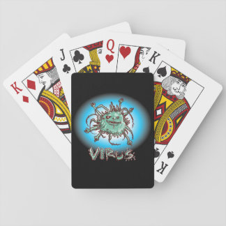 ugly virus funny cartoon playing cards