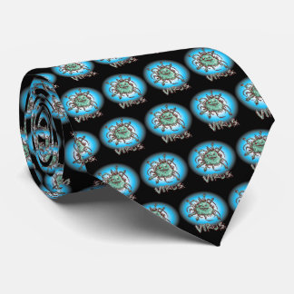 ugly virus funny cartoon tie