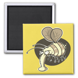 ugly wasp funny bee cartoon magnet