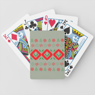 Ugly xmas 1 bicycle playing cards