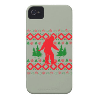 Ugly Xmas Bigfoot iPhone 4 Case-Mate Case