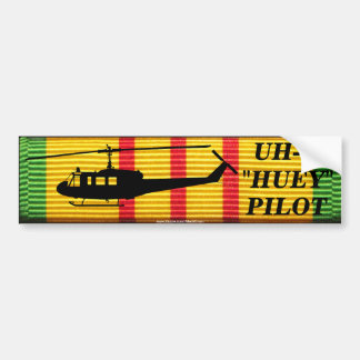 "UH-1 ""Huey"" Pilot VSM Ribbon Bumper Sticker"